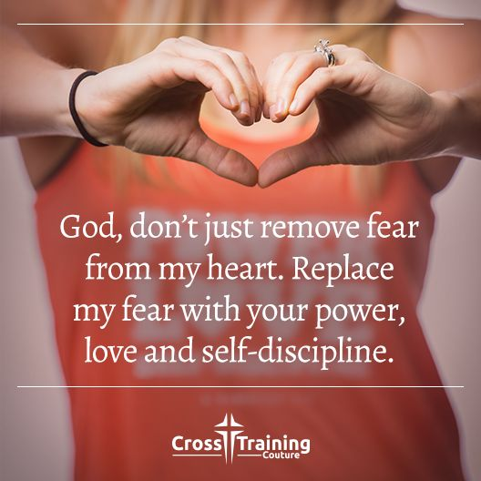 """For God has not given us a spirit of fear and timidity, but of power, love, and self-discipline. – 2 Timothy 1:7  #crosstrainingdevo""  Excerpt From: Michelle Myers. ""Cross Training Devos, Volume One."" iBooks. https://itun.es/us/32Lo7.l"