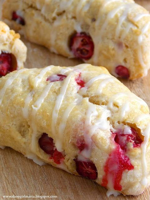 Cranberry Scones with a lemon glaze. Favorite favors!!!