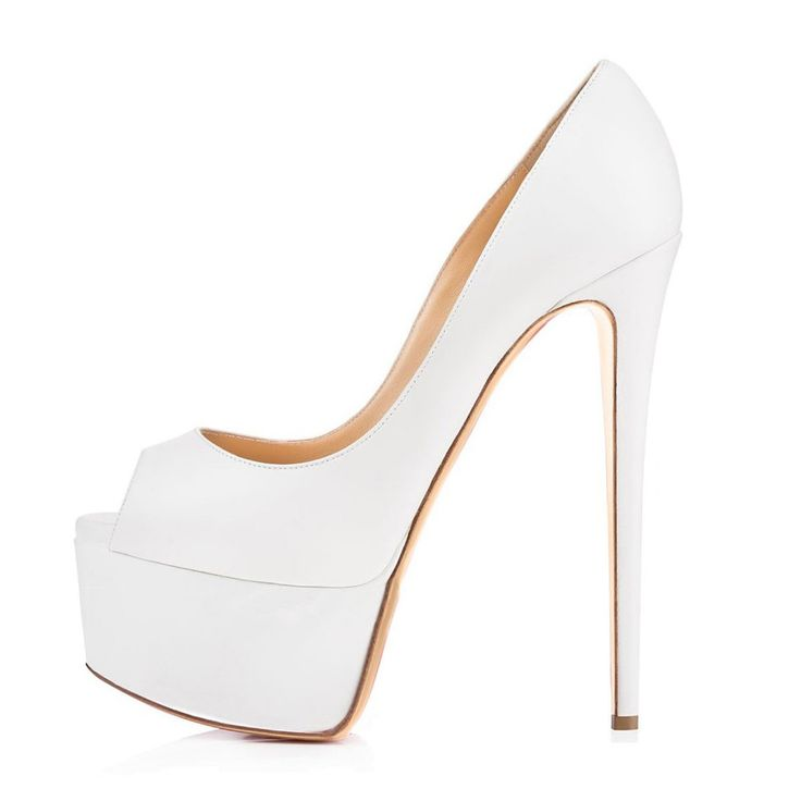 Amourplato Frauen Peep Toe Plateau Pumps Slip Auf Offene spitze Kleid Schuhe Sexy Braut Hochzeit Pumps Weiß //Price: $US $80.99 & FREE Shipping //     #clknetwork