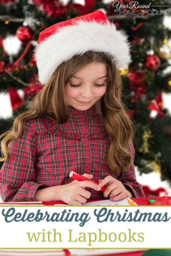 Celebrating Christmas with Lapbooks - By Sara. Homeschooling through the Holidays