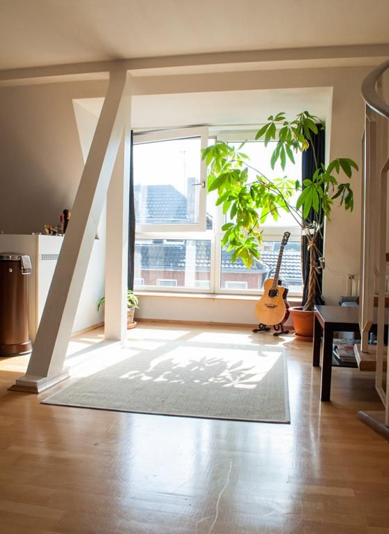 Schönes, Helles Wohnzimmer In Düsseldorfer Maisonette Wohnung. #Düsseldorf # Wohnung