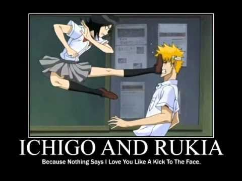 Ichigo and Rukia. I wonder if I should be concerned that I have some understanding of the dynamic between these two...haha