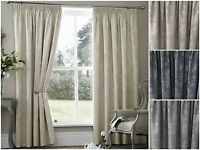 Thermal Coated Ready Made Curtains Acrylic Energy Saving Pencil Pleat