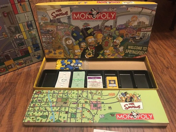 The Simpsons MONOPOLY Board Game Welcome to Springfield Complete    eBay