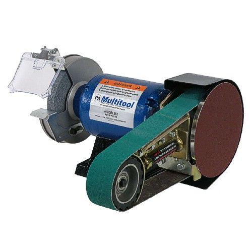 "New Plug n Play 2x36"" Multitool belt grinder - Bench grinder combo.  3/4 hp"