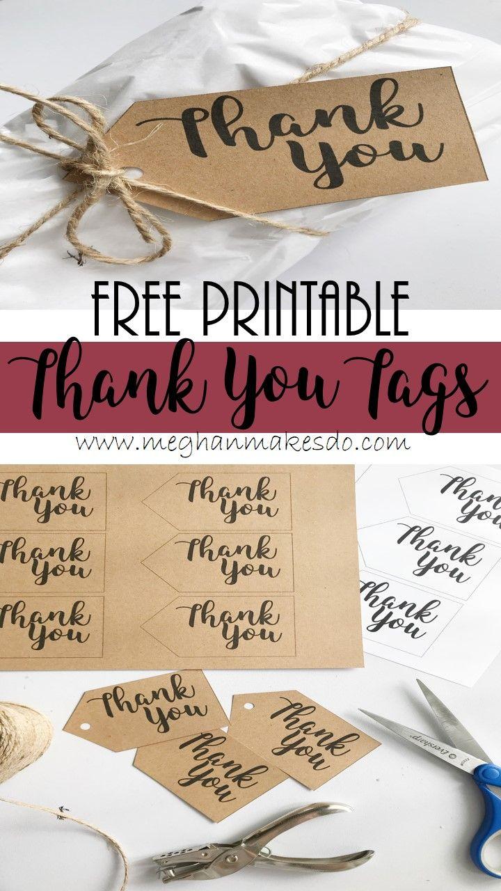 Free Printable Thank You Tags Meghan Makes Do Free Printable Gift Tags Gift Tags Diy Free Gift Tags Thank you gift tag template