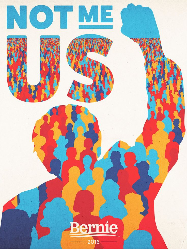 Aled Lewis, Volunteer Poster in Support of Bernie Sanders, candidate for the Democratic Party's presidential nomination, 2016.
