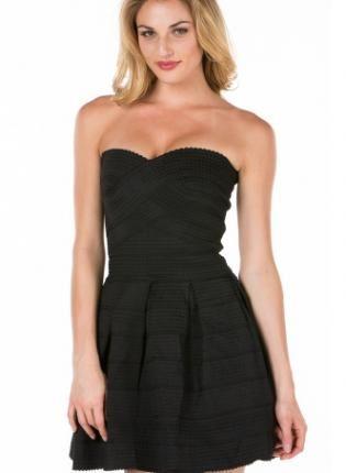 Black Strapless Bandage Skater Dress Ustrendy Chic Dresses Under