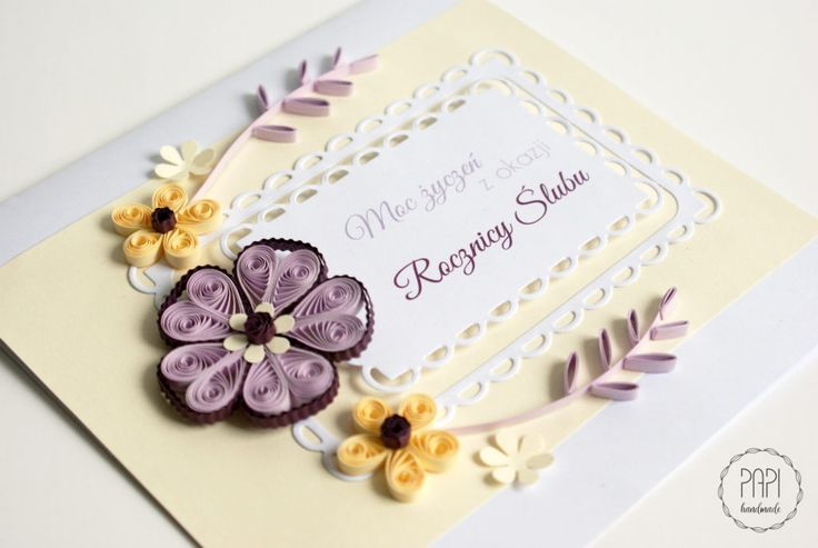 rocznica ślubu elegant quilling handmade