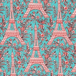 eiffel tower fabric prints -8.75 per yard