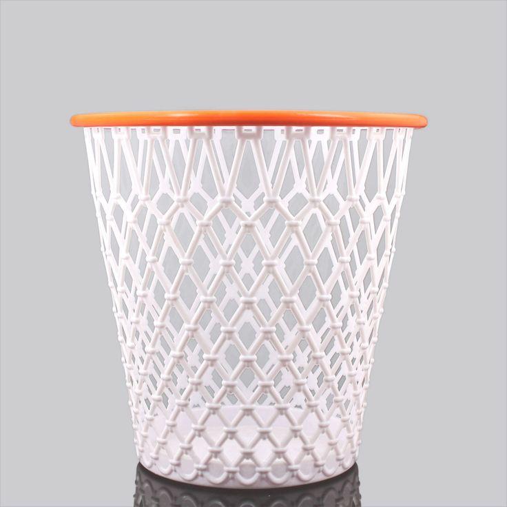 "Spalding® ""Crunch Time"" Basketball Net WastebasketBoys Bathroom, Basketball Nets, Nets Wastebasket, Fun Wastebasket, Basketball Room, Crunches Time, Beds Bath, Basketbal Nets, Boys Room"