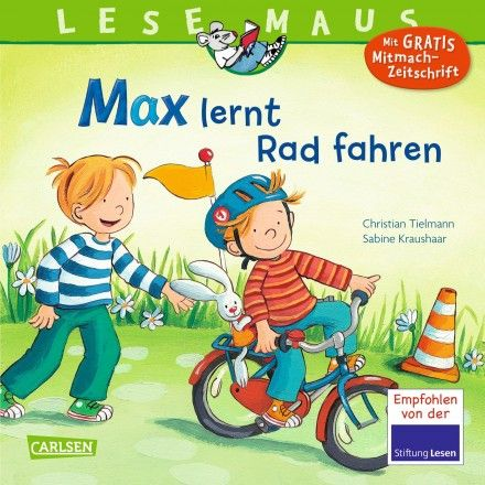 Achtung, fertig, los! Max saust mit seinem Laufrad über den Hof. Aber eigentlich ist er dafür schon zu groß. Max braucht ein richtiges Fahrrad! Zusammen mit Mama repariert er das alte Kinderrad von Felix. Dann heißt es üben, üben, üben ... und schon bald fährt Max die ersten Kurven. Eine lustige und informative Geschichte rund ums Radfahren.