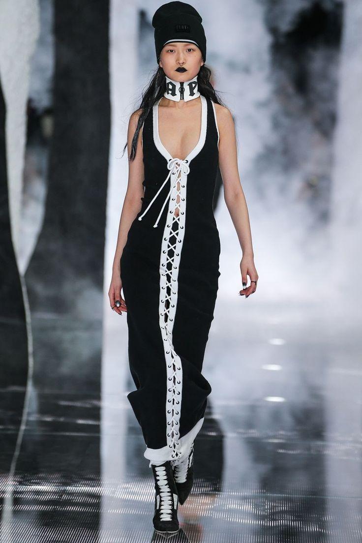 In true Rihanna fashion (literally), Rihanna modeled her own Fenty x Puma runway presentation at New York Fashion Week. Comprised of sportswear heavil…