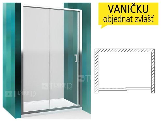 LLD2 sprchové dveře posuvné do niky LLD 2/1200 (1170-1205mm) profil:brillant, výplň:transparent - Triker