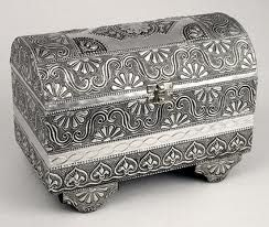 silver treasure chest  jewel box