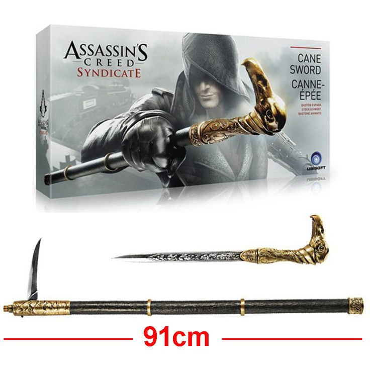 >> Click to Buy << 91cm Newest Assassins Creed Action Figures Cosplay Weapon Syndicate Cane Sword Collection Model Toys #Affiliate