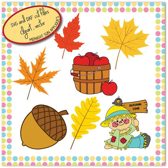Autumn SVG fall svg dxf clipart leaves svg scarecrow svg