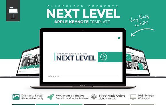 Next Level Keynote Template by Slidedizer on @creativemarket