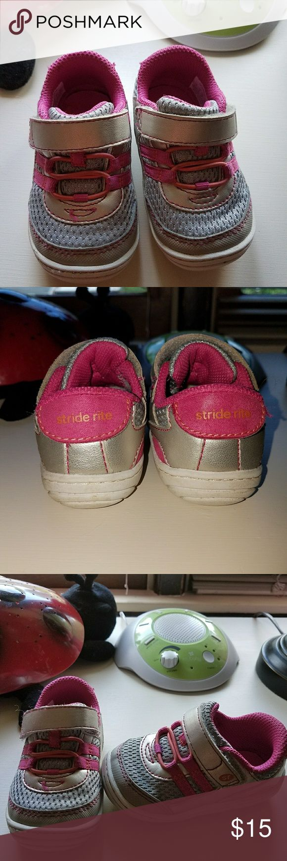 Stride rite toddler sneakers Excellent condition silver and pink girls size 4 Stride Rite sneakers Stride Rite Shoes Sneakers