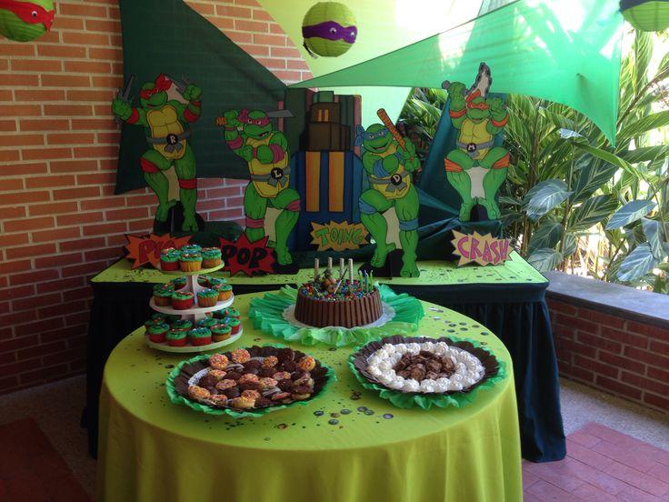 Decoraci n fiesta tortugas ninja pi atas pinterest - Ideas decoracion fiestas ...
