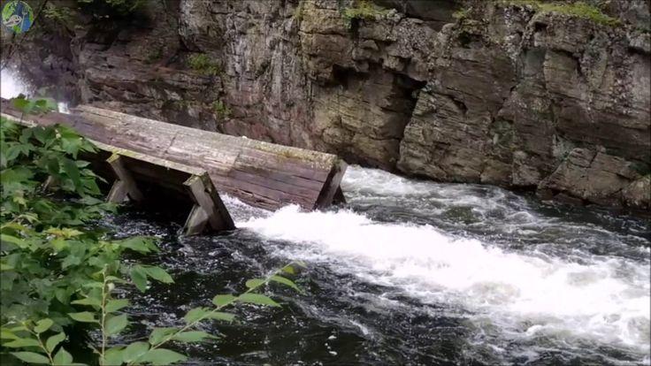 Explore the Hawk Lake Log Chute - Haliburton Highlands, Ontario