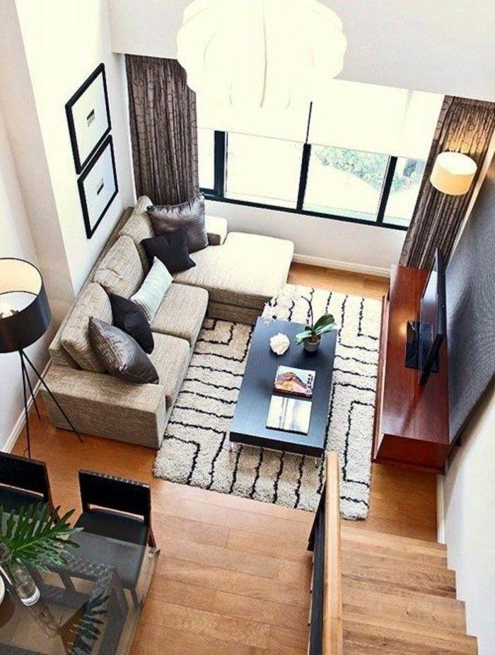 les 25 meilleures idées de la catégorie décor de canapé beige sur ... - Amenager Un Petit Salon Salle A Manger