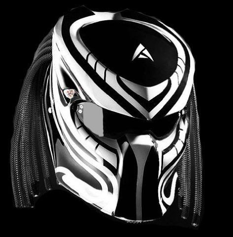 Best Alien Predator Motorcycle Helmet Street Fighter Red With