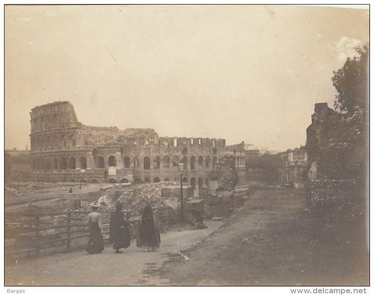 Photo Ancienne 1904 Le Colisée à  Rome Italie