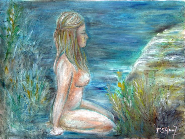 Aqua (water) astrological element painting by Francesca Di Stefano www.artinvesta.com/sec_offer/309