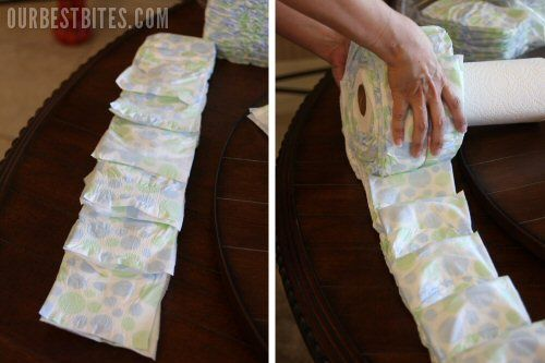 Diaper cake- an easier way than I have done before: