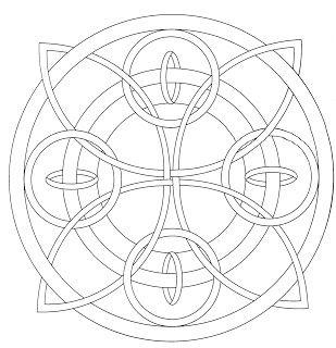 Mandalas Para Pintar: Anillos entrelazados