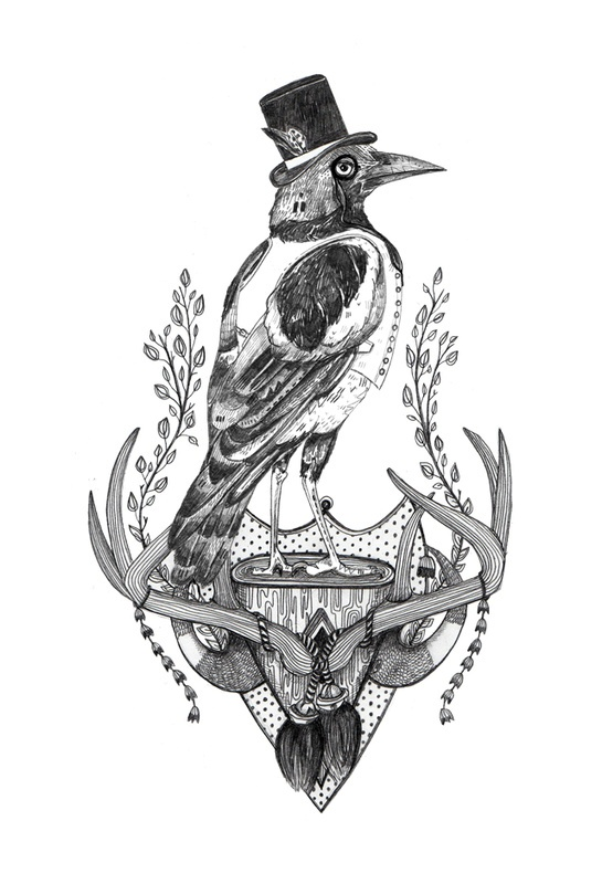 Mr Magpie magazine - one of my favourite illustrations