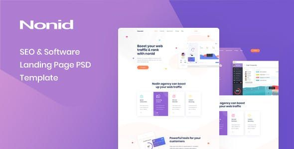 Nonid Seo Software Landing Page Psd Template Nulled Free Download Seo Software Web Design Startup Marketing