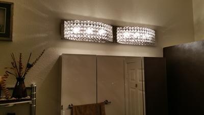 Kichler Lighting Krystal Ice 3 Light Chrome Rectangle