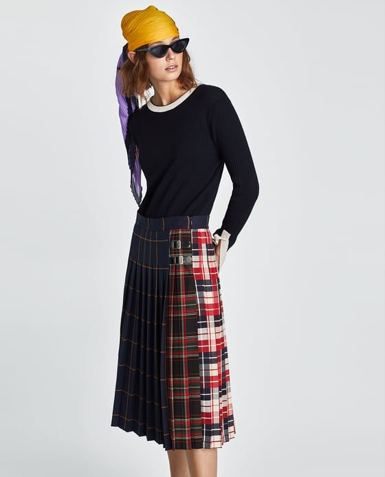 7a1f90abb3 Image 5 of CHECKED SKIRT from Zara | Zara in 2019 | Skirts, Plaid ...
