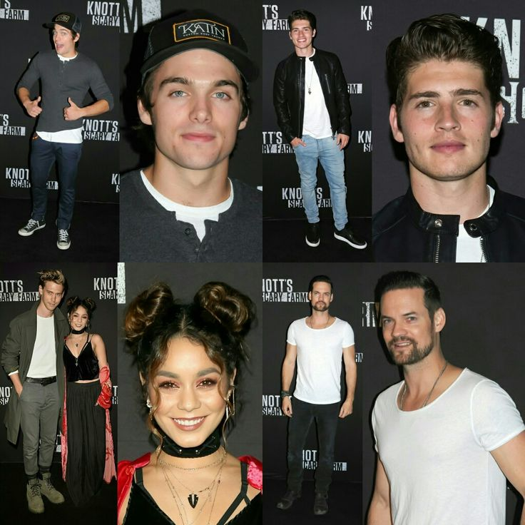 @dylansprayberry, @greggsulkin, @austinbutler (with @vanessahudgens) and @theshanewest attended the #KnottsScaryFarm opening event last night in LA! • • • • • • • • • • • • • • • • • • • • • • • • • • • • •  #DylanSprayberry, #GreggSulkin, #AustinButler (com #VanessaHudgens) e #ShaneWest compareceram ao evento de abertura da #KnottsScaryFarm ontem à noite em LA!
