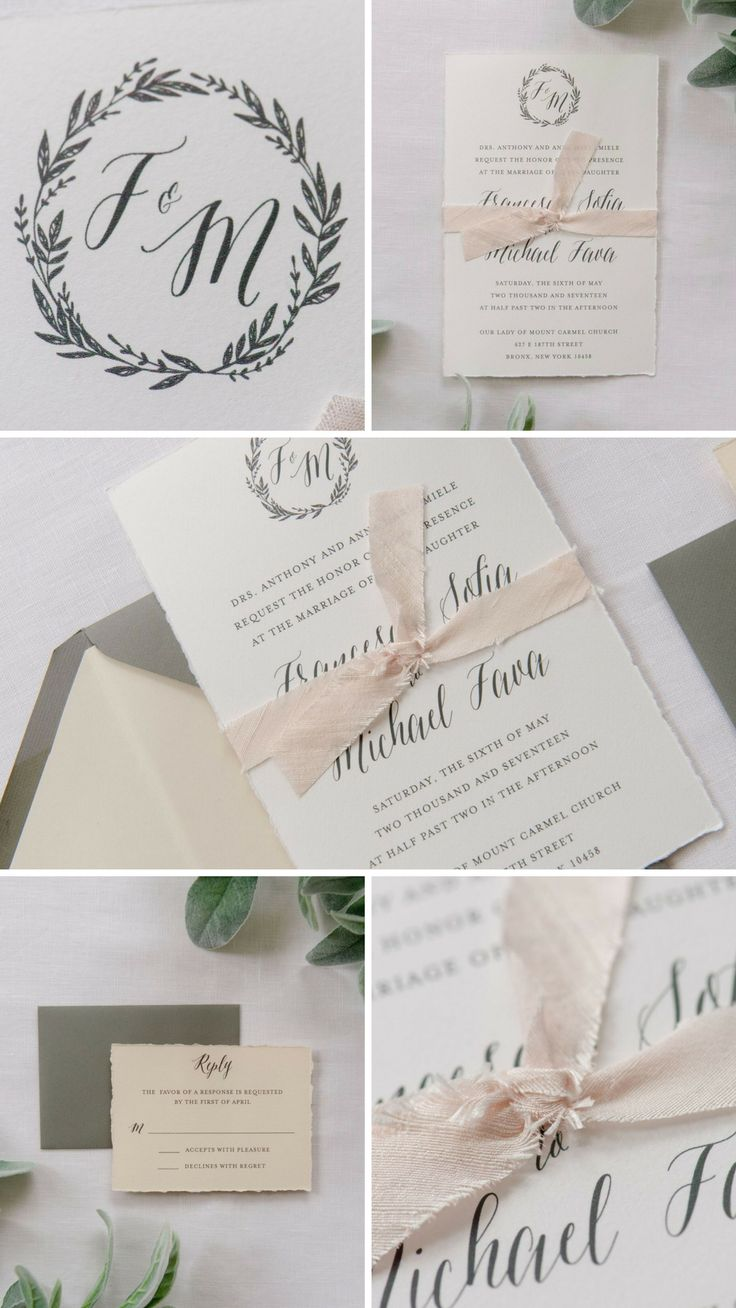 addressing wedding invitations married woman doctor%0A Simple and romantic  the Francesca wedding invitation suite features a  Midori ribbon  deckled edges
