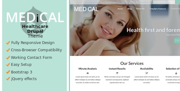 Medical - A Premium Healthcare Drupal Theme - Themesnap
