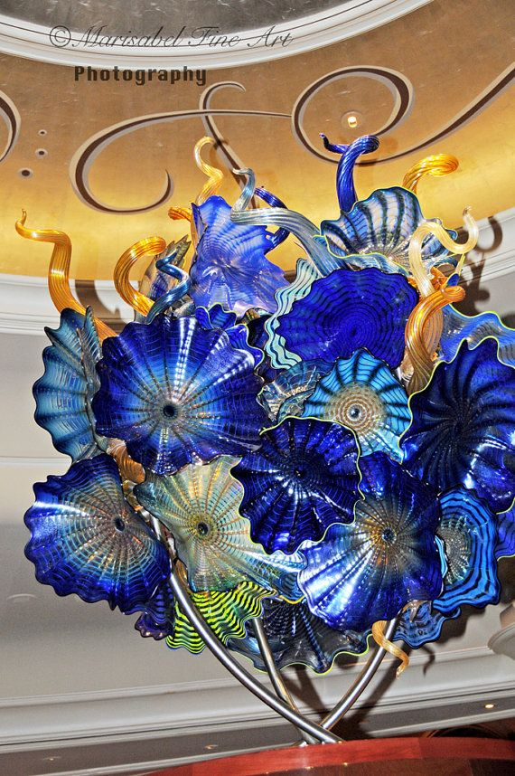 8x12 glass flowers in chihuly glass sculpture Bellagio hotel las vegas fine art photography. $25.00, via Etsy.