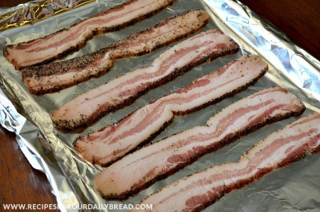 Oven Fried Bacon Pan Oven Fried Bacon http://recipesforourdailybread.com/2012/11/01/oven-fried-bacon-recipe-pic/