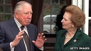Pinochet meets Margaret Thatcher