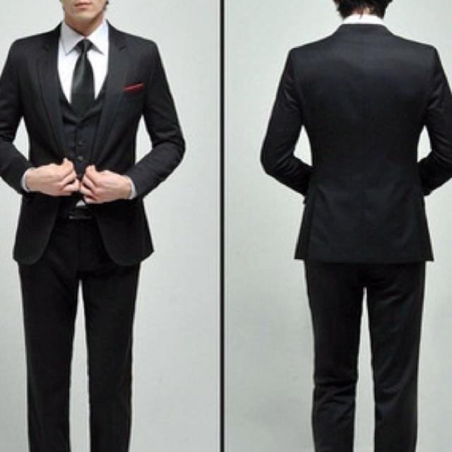 Slim Fit 3 Piece Suit Black | My Dress Tip