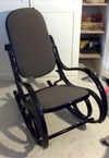 Prachtige opgeknapte schommelstoel, marktplaats