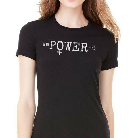 emPOWERed Women's Empowerment Feminist Tshirt by Afflatus Designs