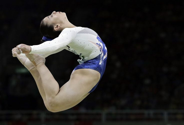 Britain's Claudia Fragapane performs on the balance beam during the artistic gymnastics women's team final at the 2016 Summer Olympics in Rio