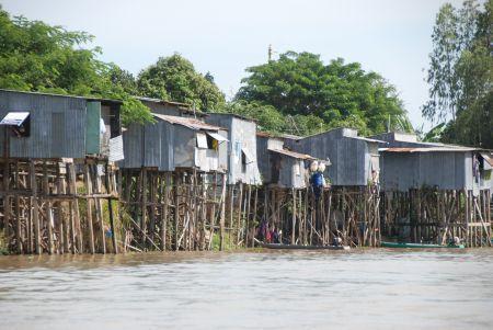 Zuid vietnam. Boottocht bij Chau Doc