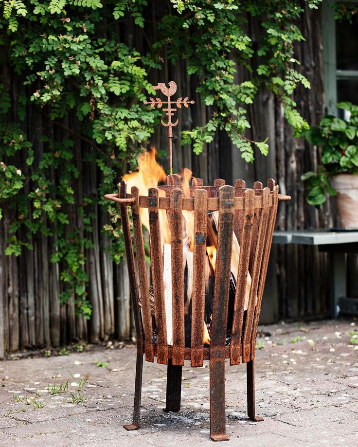 Fire Basket - Iron, from Jette's garden #firebasket #jettesgarden #gardenvisits #gardendecor #gardendesign #jettefrölich #jettefroelich #jettefrölichdesign #jettefroelichdesign #design #danishdesign #scandinaviandesign