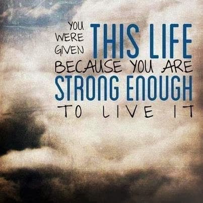 Personal strength....we all have it within - just have to find it.