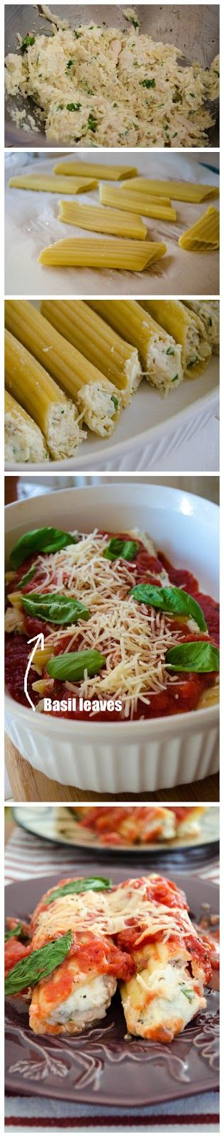 cookglee recipe pictures: Parmesan Chicken Manicotti