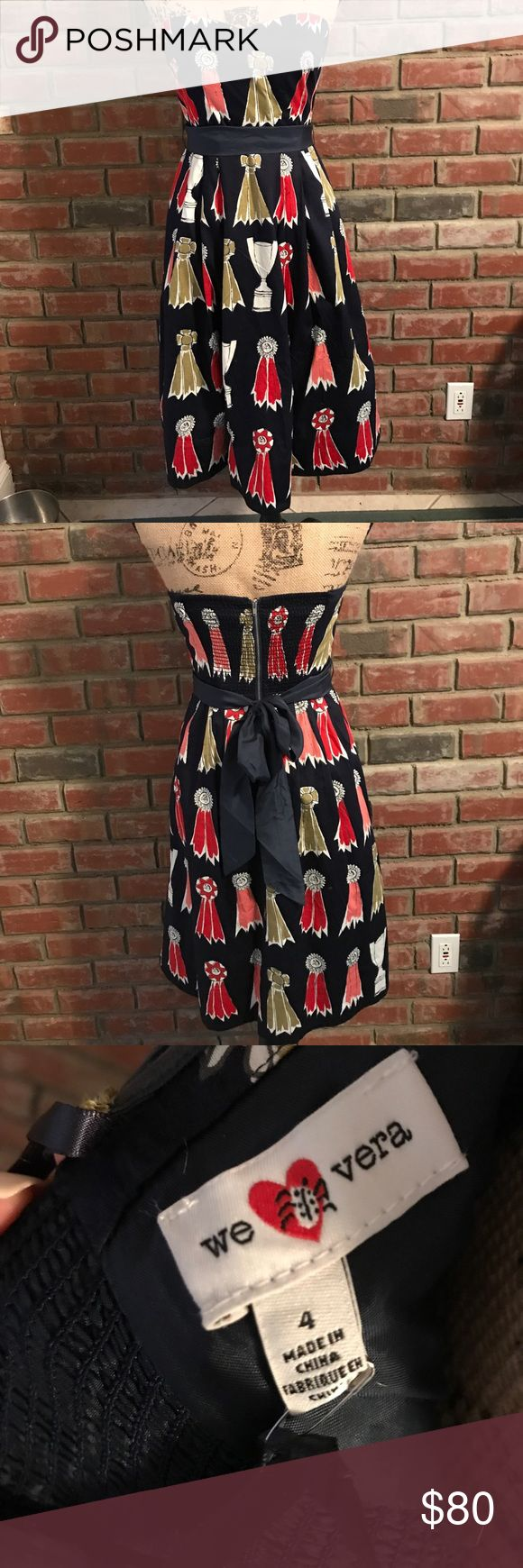 Anthropologie dress Size 4 NWT. Perfect for Carolina cup! Bought for $168. 100% cotton (lining is 100% acetate). Comes with added straps Anthropologie Dresses Strapless